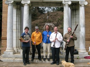 Zaptet Woodwind Quintet at Portal of the Past, Golden Gate Park, San Francisco