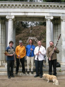 Sammy Dog With Zaptet Woodwind Quintet at Portal of the Past, Golden Gate Park, San Francisco