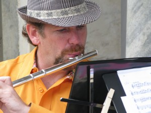 Eric on Flute, Zaptet Woodwind Quintet Performing at Portal of the Past, Golden Gate Park, San Francisco