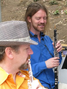 Eric on Flute, Stardust on Oboe, Zaptet Woodwind Quintet Performing at Portal of the Past, Golden Gate Park, San Francisco