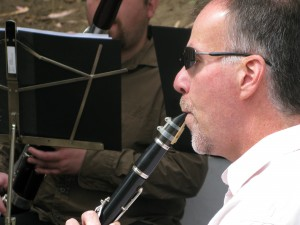 Doug on Clarinet, Zaptet Woodwind Quintet Performing at Portal of the Past, Golden Gate Park, San Francisco