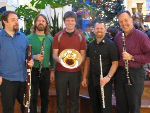 Zaptet Woodwind Quintet After Performing at Stonestown Galleria in San Francisco