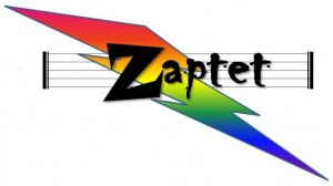 Zaptet rainbow lightning bolt logo